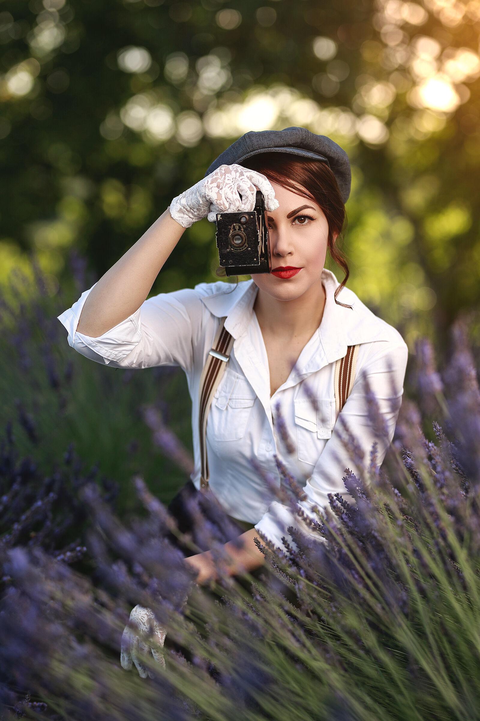 La fotografa...