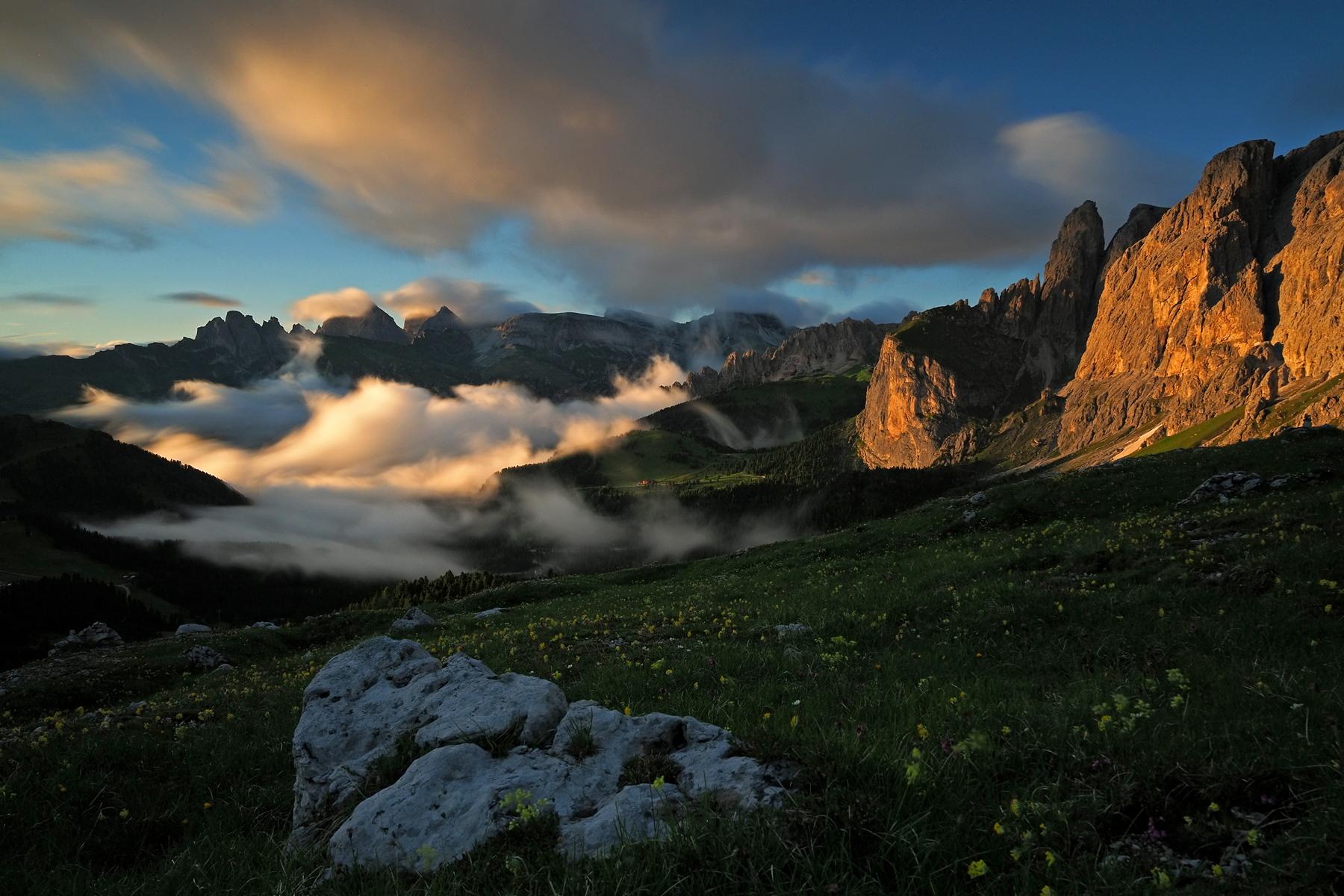 Dolomites sunset ...