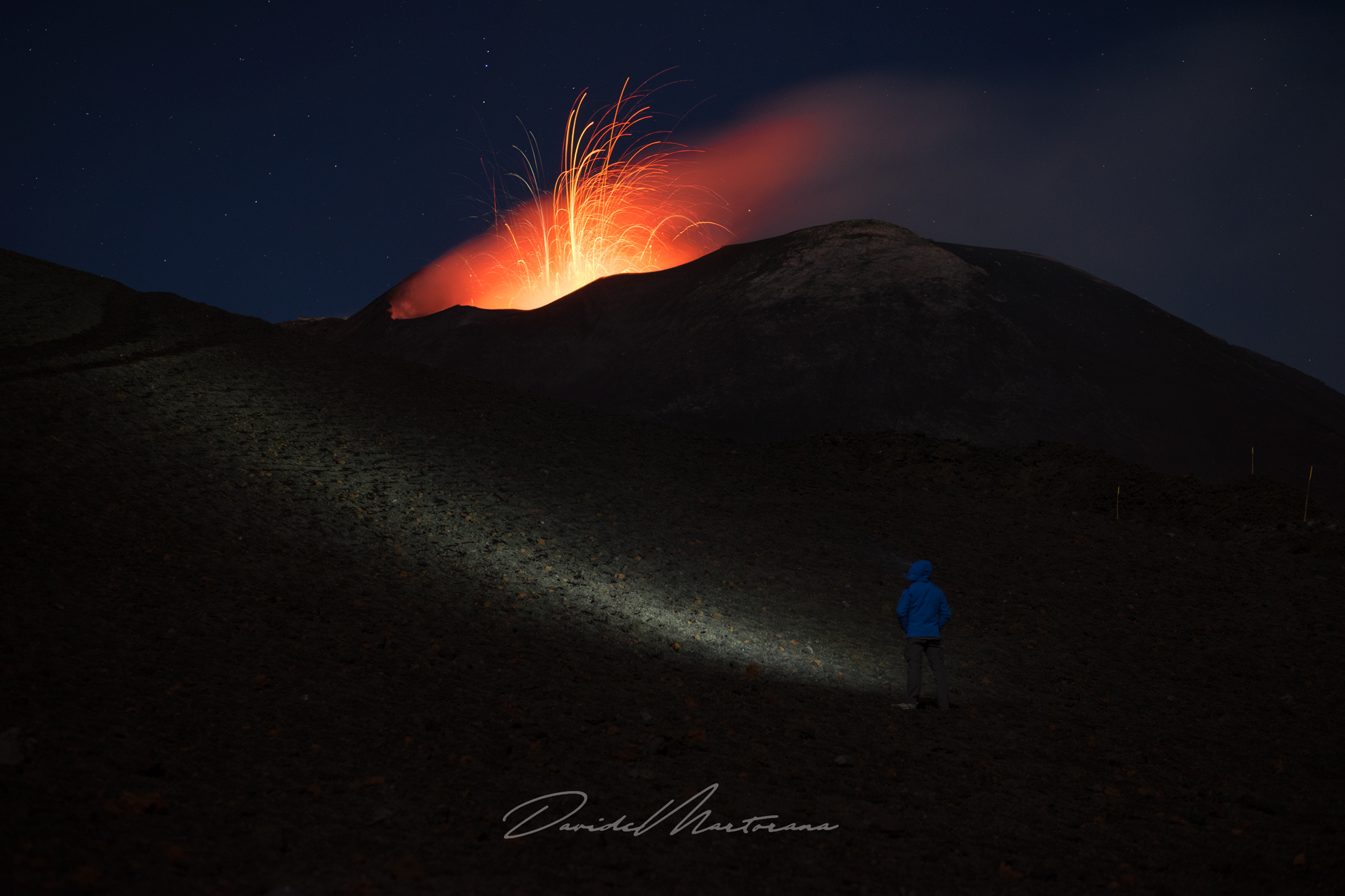 Looking at Mount Etna...