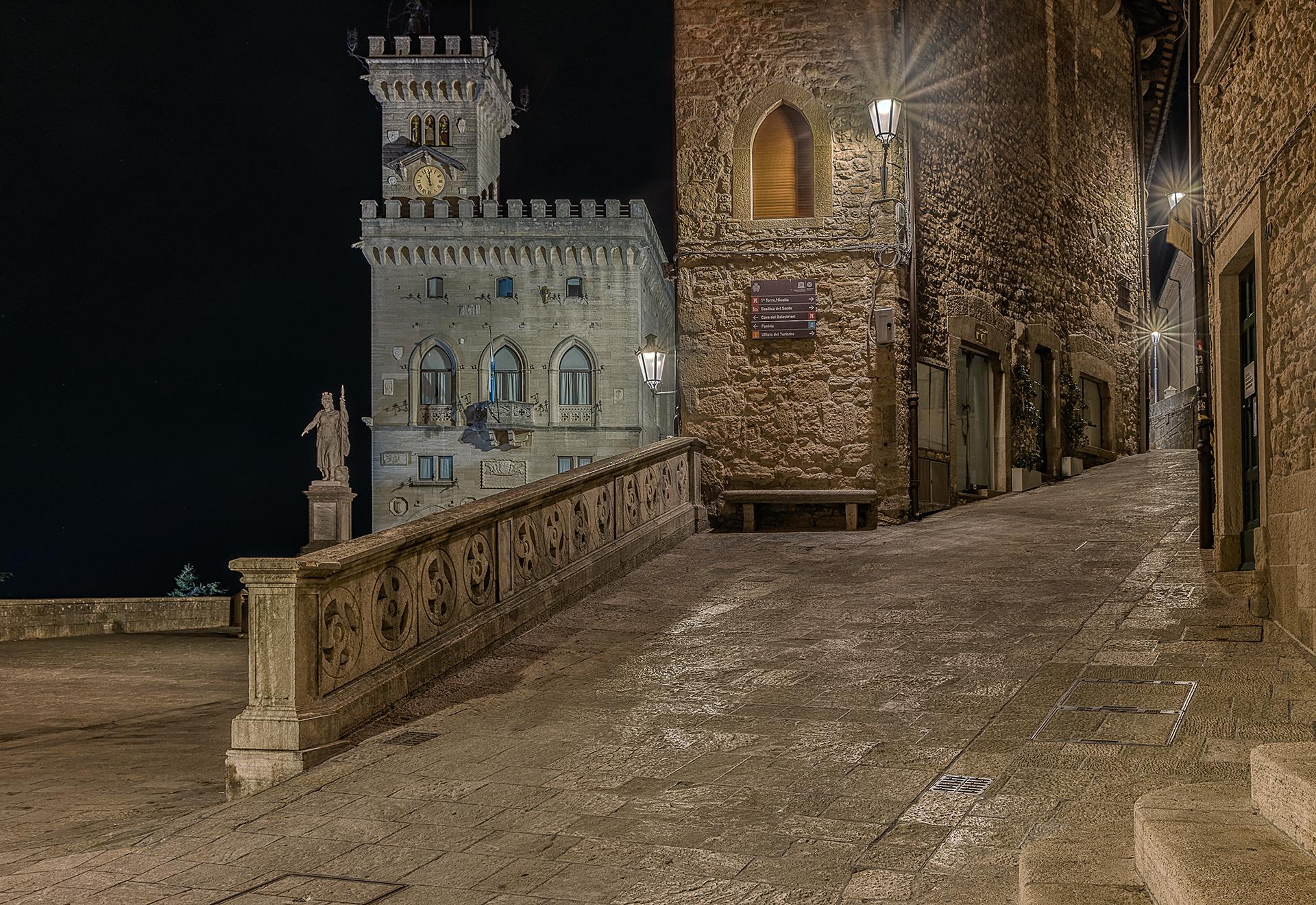 San Marino nightscape...