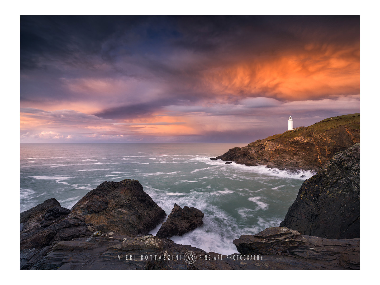 Trevose Head's Lighthouse at sunset...