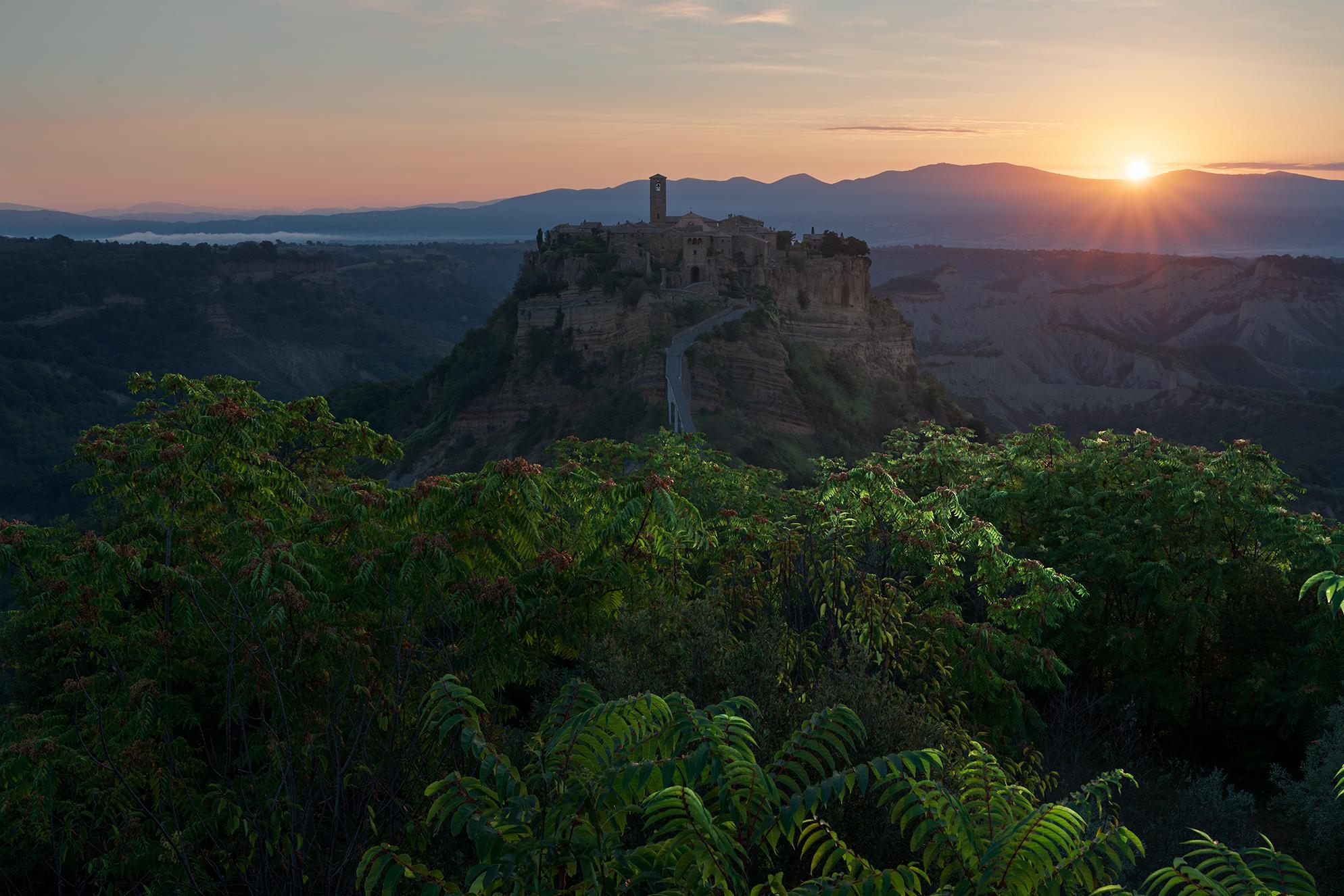 A sunrise in Civita...