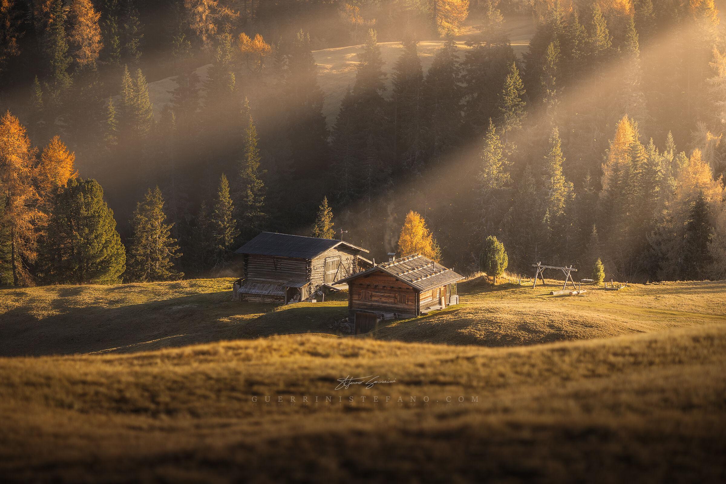 Huts in autumn - Trentino Alto Adige...